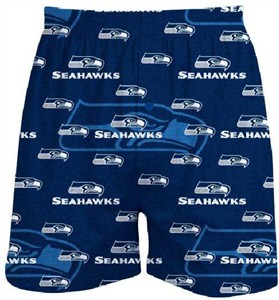Seattle Seahawks Men�s Blue Keynote Boxer Shorts by Concepts Sports