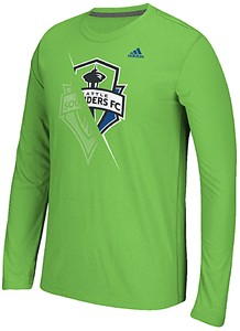 Seattle Sounders Uncovered Adidas Climalite Synthetic Ultimate Long Sleeve Shirt