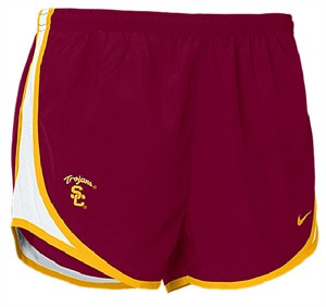 Southern Cal Trojans Women�s Varsity Crimson 3� Inseam Nike FIT Dry College Tempo Running Shorts By Nike Team Sports