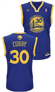Stephen Curry Youth Golden State Warriors Adidas Blue Replica Basketball Jersey