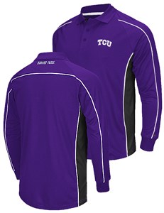 Tcu horned frogs mens purple chiliwear synthetic overtime for Long sleeve purple polo shirt