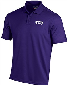 TCU Horned Frogs Mens Purple Performance Polo Shirt by Under Armour