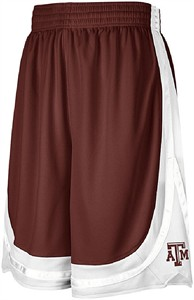Texas A&M Aggies Adult 10� Inseam College Team Spirit Basketball Shorts By Adidas