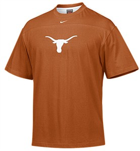 Texas Longhorns Adult Burnt Orange College Structured Embroidered Tackle Twill Short Sleeve Tee Shirt By Nike Team Sports