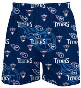Tennessee Titans Men�s Blue Keynote Boxer Shorts by Concepts Sports
