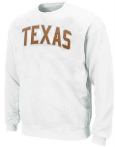 Texas Longhorns Adult Collegiate White Crew by Champion