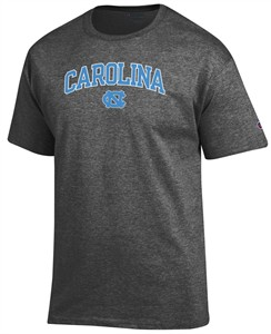UNC Tar Heels Granite Heather Champion Campus Short Sleeve Tee Shirt