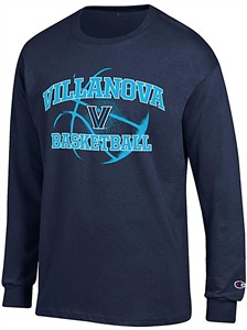 Villanova Wildcats Navy Basketball Long Sleeve T Shirt by Champion