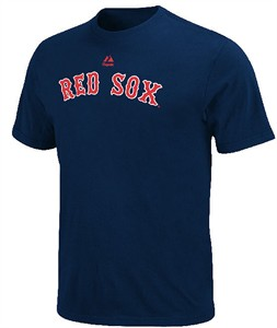 Youth Boston Red Sox Majestic Wordmark Short Sleeve T Shirt