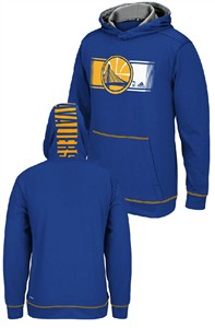 Youth Golden State Warriors Adidas Blue Tip Off Synthetic Hoodie Sweatshirt