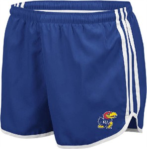 "Adidas Ladies Kansas Jayhawks 3"" Break Running Shorts"