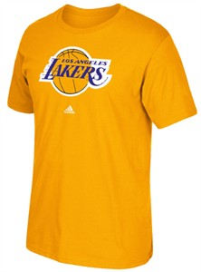 Adidas Los Angles Lakers Gold Primary Logo Basketball T Shirt  8bed2980f
