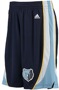Adidas Memphis Grizzlies Navy Embroidered Swingman Basketball Shorts