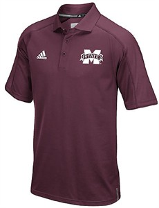 Adidas Mississippi State Bulldogs 2016 Football Coaches Sideline Climalite Polo Shirt