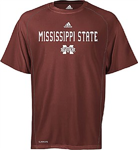 Adidas Mississippi State Bulldogs Climalite Sidelines Top