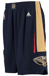 Adidas New Orleans Pelicans Navy Embroidered Swingman Basketball Shorts