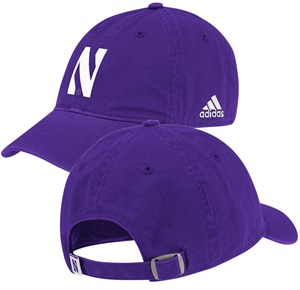 Adidas Northwestern Wildcats Purple Relaxed Fit Logo Cap