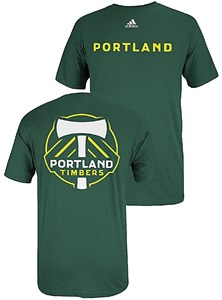 f19246629dd4c Adidas Portland Timbers FC Green 2 Sided MLS Primary Two T Shirt ...