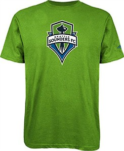 adidas Seattle Sounders FC  Mens Squad Primary Short Sleeve T Shirt