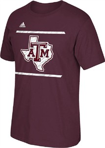 Adidas Texas A&M Aggies Maroon Sidelines Energize T Shirt