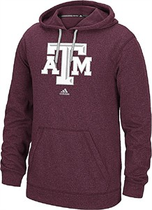 Adidas Texas A&M Aggies Mens Maroon School Logo Synthetic Hoodie Sweatshirt