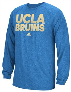 Adidas UCLA Bruins Bright Royal Sideline Hustle Climalite Long Sleeve Shirt