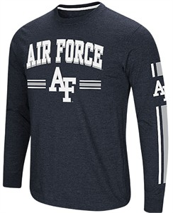 Air Force Falcons Blue Colosseum Touchdown Pass Long Sleeve T Shirt on Sale