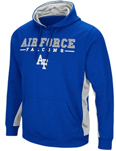 Air Force Falcons Men's Royal Setter Synthetic Embroidered Hoodie Sweatshirt