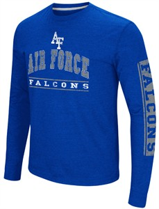 Air Force Falcons Men's Royal Sky Box College Long Sleeve T Shirt on Sale