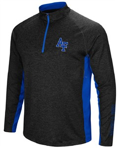 Air Force Falcons Mens Black Upstart 1/4 Pullover Synthetic Windshirt on Sale
