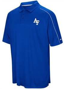 Air Force Falcons Mens Royal Setter Synthetic Poly Polo Shirt on Sale