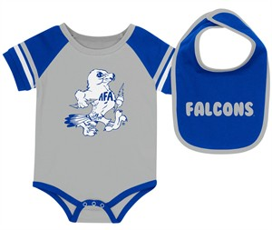 Air Force Falcons Newborn & Infant Grey Bodysuit & Bib Set on Sale