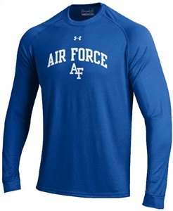 Air Force Falcons Royal Poly Dry HeatGear NuTech LS Shirt by Under Armour on Sale