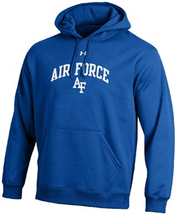 Air Force Falcons Royal Under Armour Synthetic Performance ColdGear Hooded Sweatshirt on Sale