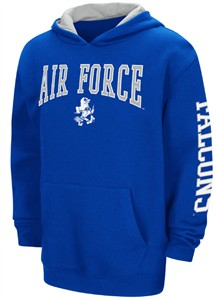 Air Force Falcons Youth Royal Screened Zone 2 Pullover Hoodie Sweatshirt on Closeout