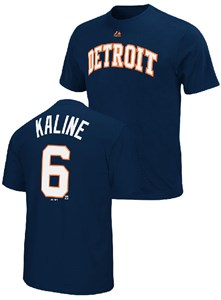Al Kaline Detroit Tigers Navy Cooperstown Baseball T Shirt By Majestic