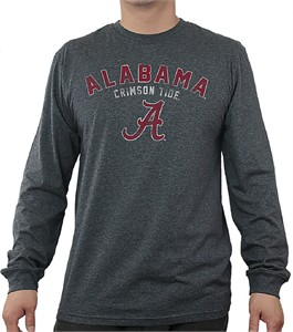 Alabama Crimson Tide Charcoal Heather Mens Core Long Sleeve T Shirt