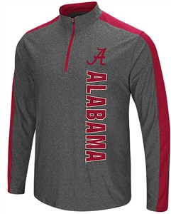 Alabama Crimson Tide Charcoal Splitter 1/4 Pullover Synthetic Windshirt