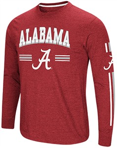 Alabama Crimson Tide Crimson Colosseum Touchdown Pass Long Sleeve T Shirt