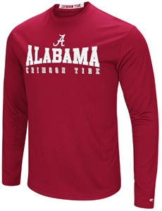 Alabama Crimson Tide Mens Crimson Synthetic Streamer Long Sleeve T Shirt