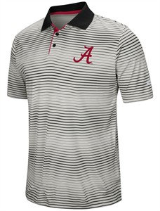 "Alabama Crimson Tide Men's ""Number One"" Striped Polyester Polo"