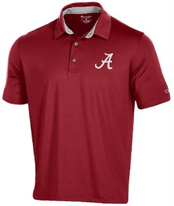 Alabama Crimson Tide Men's Crimson Blitz Synthetic Polo Shirt on Sale