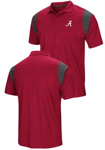 Alabama Crimson Tide Mens Crimson Friend Colosseum Polo Shirt