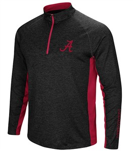 Alabama Crimson Tide Mens Dark Charcoal Upstart 1/4 Pullover Synthetic Windshirt