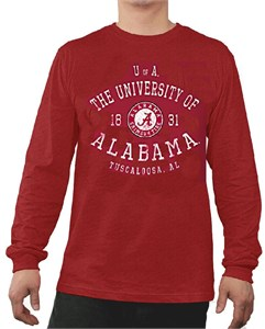 Alabama Crimson Tide Mens Essential Long Sleeve College Tee Shirt
