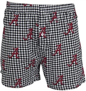 Alabama Crimson Tide Mens Houndstooth Boxer Shorts