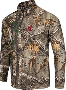 Alabama Crimson Tide Mens RealTree Brow Tine Synthetic Quarter Zip Windshirt by Colosseum