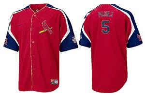 Albert Pujols MLB Red Power Alley Tackle Twill Embroidered Baseball Jersey By Nike Team Sports