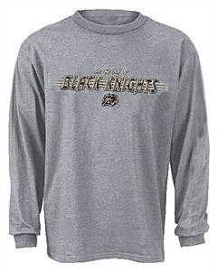 Army Black Knights NCAA Grey Blaze Long Sleeve Tee Shirt By Adidas