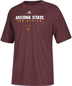 Arizona State Sun Devils Maroon Sideline 2017 Adidas Climalite Polyester Synthetic T Shirt